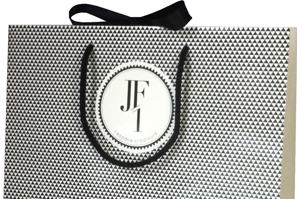 Sac luxe poignées coton et ruban JF1