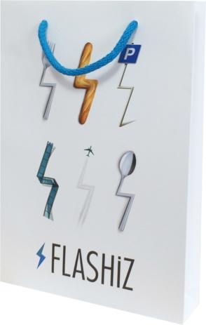 sac en papier luxe personnalisé pour Flashiz