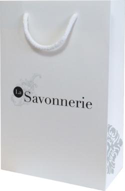 sac en papier pelliculé pour la Savonnerie de L'Escarène