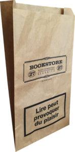 Sachet papier kraft brun Bookstore