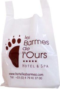 sac plastique publicitaire poignées bretelles