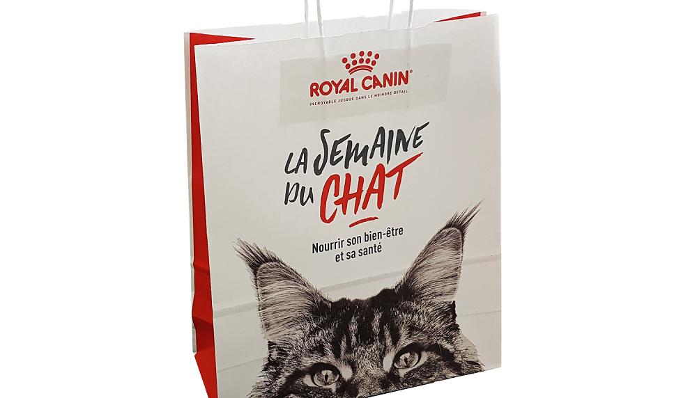 Sac papier kraft personnalisé la semaine de chat Royal Canin