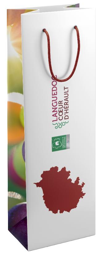 sac personnalisé bouteille de vin pour Languedoc coeur d'Hérault