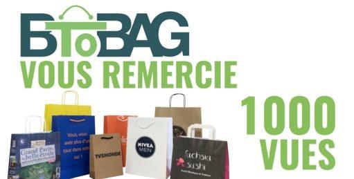Plus de 1000 vues sur notre vidéo de fabrication des sacs publicitaires papier luxe personnalisés.