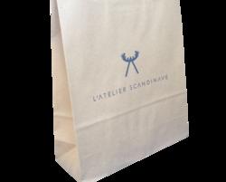 sac kraft papier brun poignées torsadées atelier scandinave