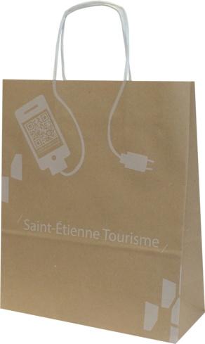 Sac kraft Ads Saint Etienne Tourisme