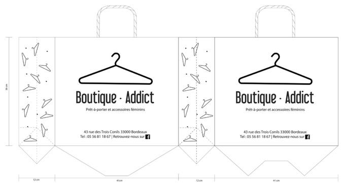 BAT Boutique Addict sac personnalisable