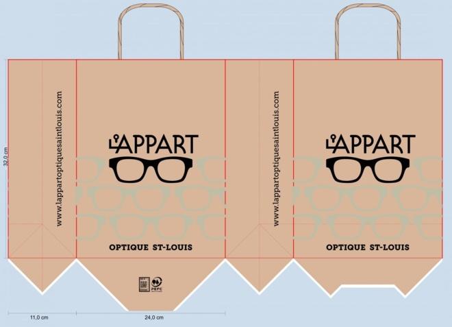 BAT LAPPART optique saint louise sac papier kraft