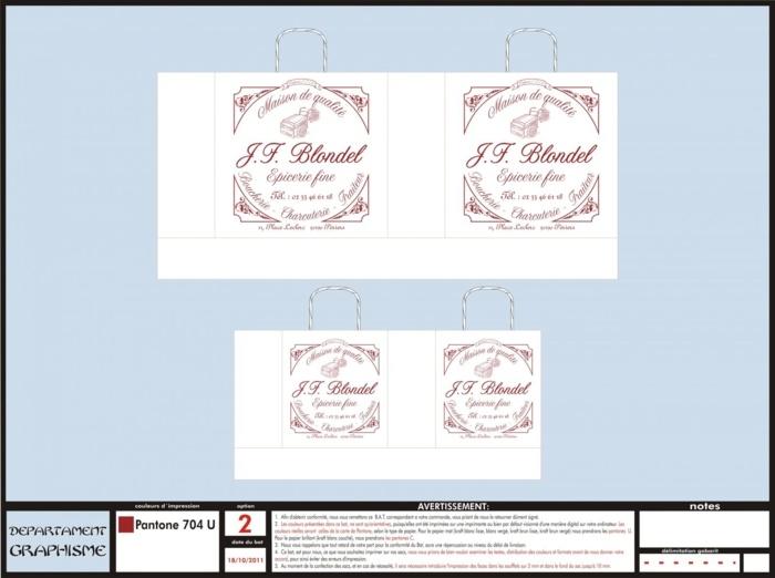 BAT Sac Papier Boucherie Charcuterie Traiteur