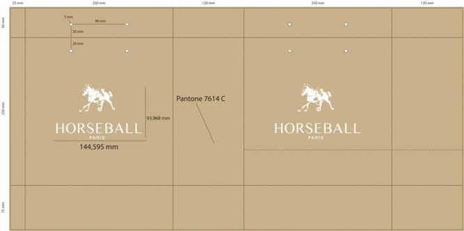 Bat sac papier luxe Horseball