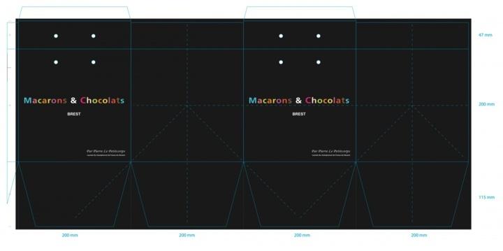 BAT sac papier luxe macarons *et* chocolats