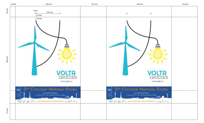 BAT sac papier luxe personnalisé colloque national éolien