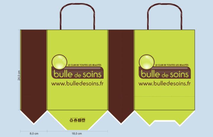 BAT sac papier publicitaire bulle de soins