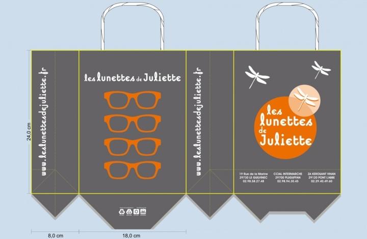 BAT sac papier publicitaire opticien les lunettes de juliette