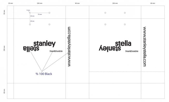 BAT sac papier publicitaire Stanley Stella