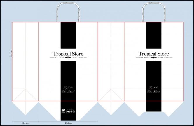 BAT sac papier tropical store
