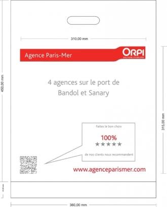 BAT sac plastique Agence Paris Mer Bandol 1