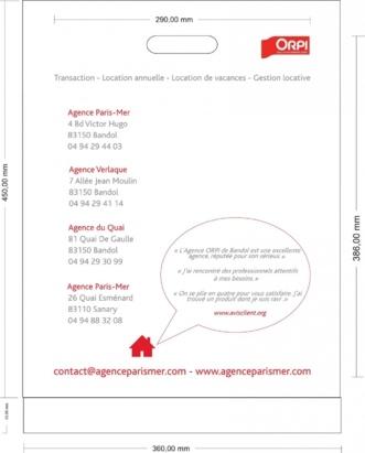 BAT sac plastique Agence Paris Mer Bandol 2