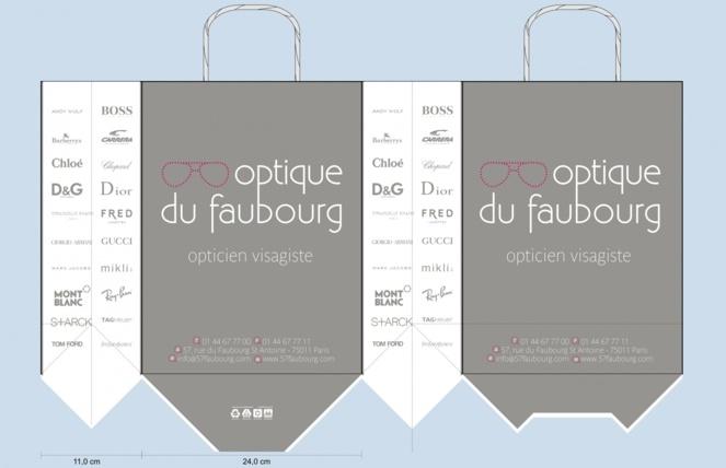BAT sac publicitaire papier OPTIQUE DU FABOURG 2