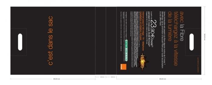 BAT sac publicitaire plastique Orange