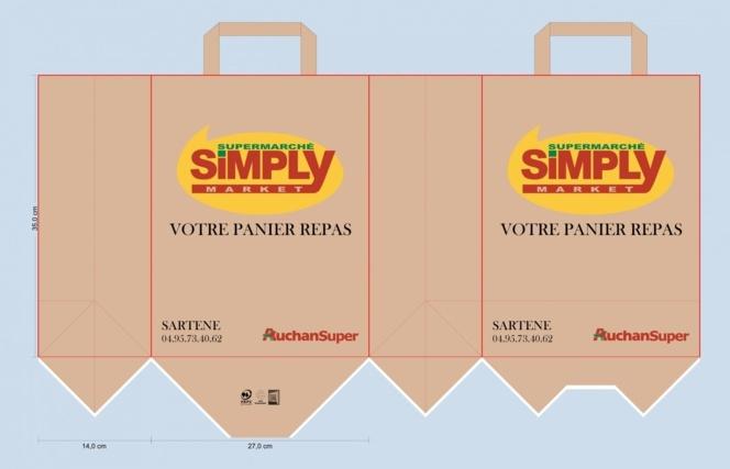 BAT SIMPLY MARKET sac papier kraft repas restauration