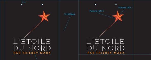 Sac papier luxe personnalisé l'étoile du Nord pour le grand chef Thierry Marx