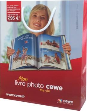 Sac papier luxe personnalisé Cewe