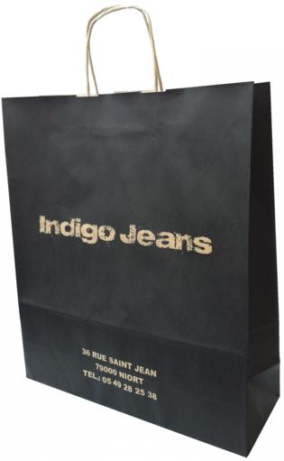 sac papier kraft indigo jeans
