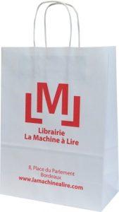 Top sacs publicitaires personnalisés kraft poignées torsadées Librairie