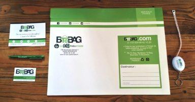 Pochette papier luxe pour envoi d'échantillons de sacs publicitaires avec googies