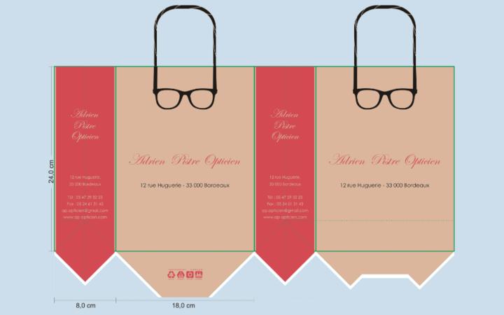 patron sac papier; patron sac publicitaire