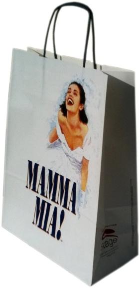 Sac kraft blanc torsadéees Mamma Mia