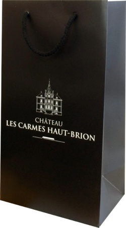 Sac bouteille luxe Château Les Carmes