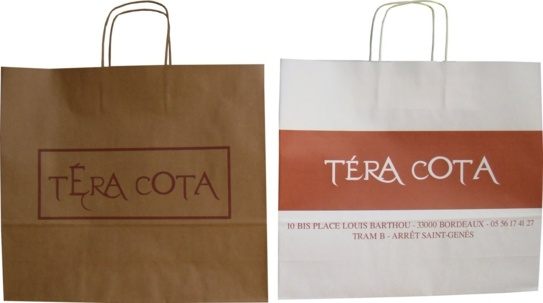 Sac papier kraft boutique Tera Cota