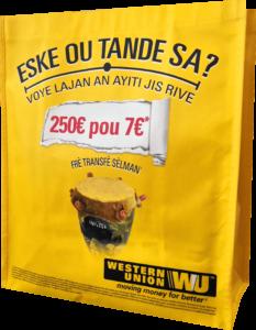 sac cabas polypro western union
