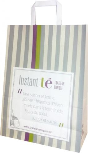 sac en papier Instant Té traiteur