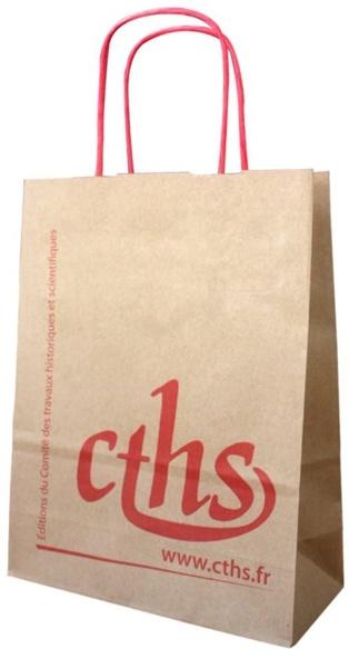 Sac en papier poignées torsadées CTHS