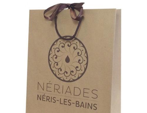 Le sac luxe en kraft du spa les Nériades, à Néris-Les-Bains