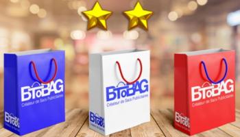 sacs papier luxe aux couleurs du drapeau français pour marquer la victoire en coupe du monde