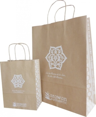 sacs publicitaire kraft brun karawan authentic