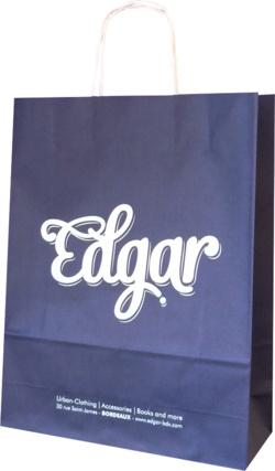 sac papier boutique Edgar bordeaux