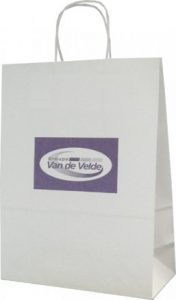 sac papier kraft poignées torsadées van de velde