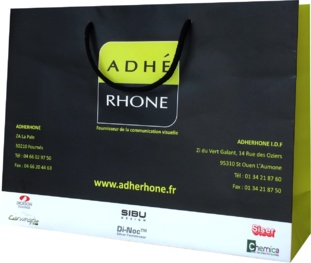 sac papier haut de gamme Adhérhone