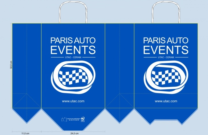 sac papier kraft BAT paris auto events