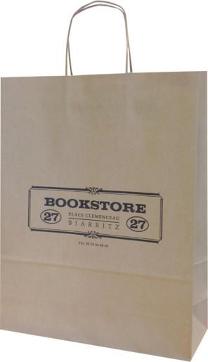 sac papier kraft Bookstore biarritz