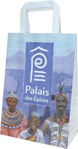 sac papier kraft boutique Palais des épices