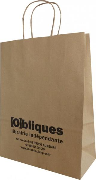 sac papier kraft librairie obliques