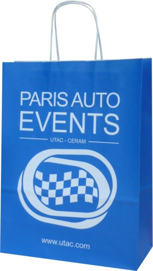 Sac papier kraft Paris auto event
