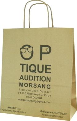 sac papier kraft pour opticien optique audition morsang