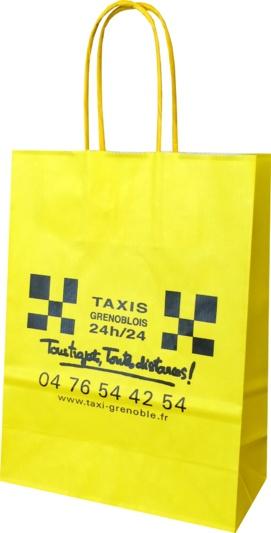 sac papier kraft taxi grenoblois